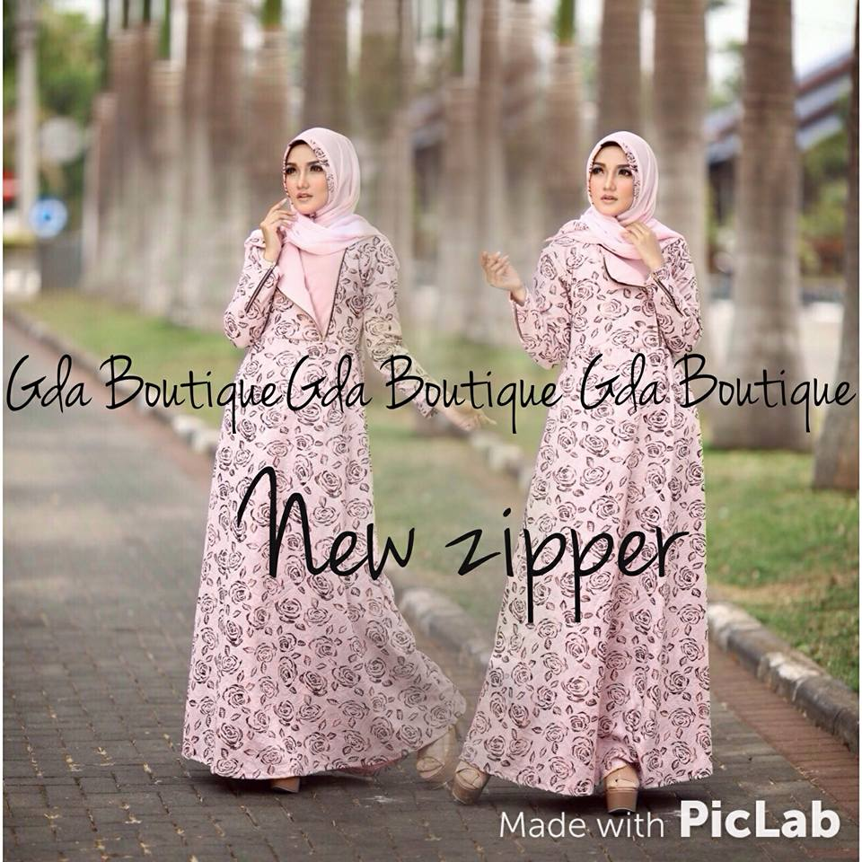 gda boutique gamis new zipper branded