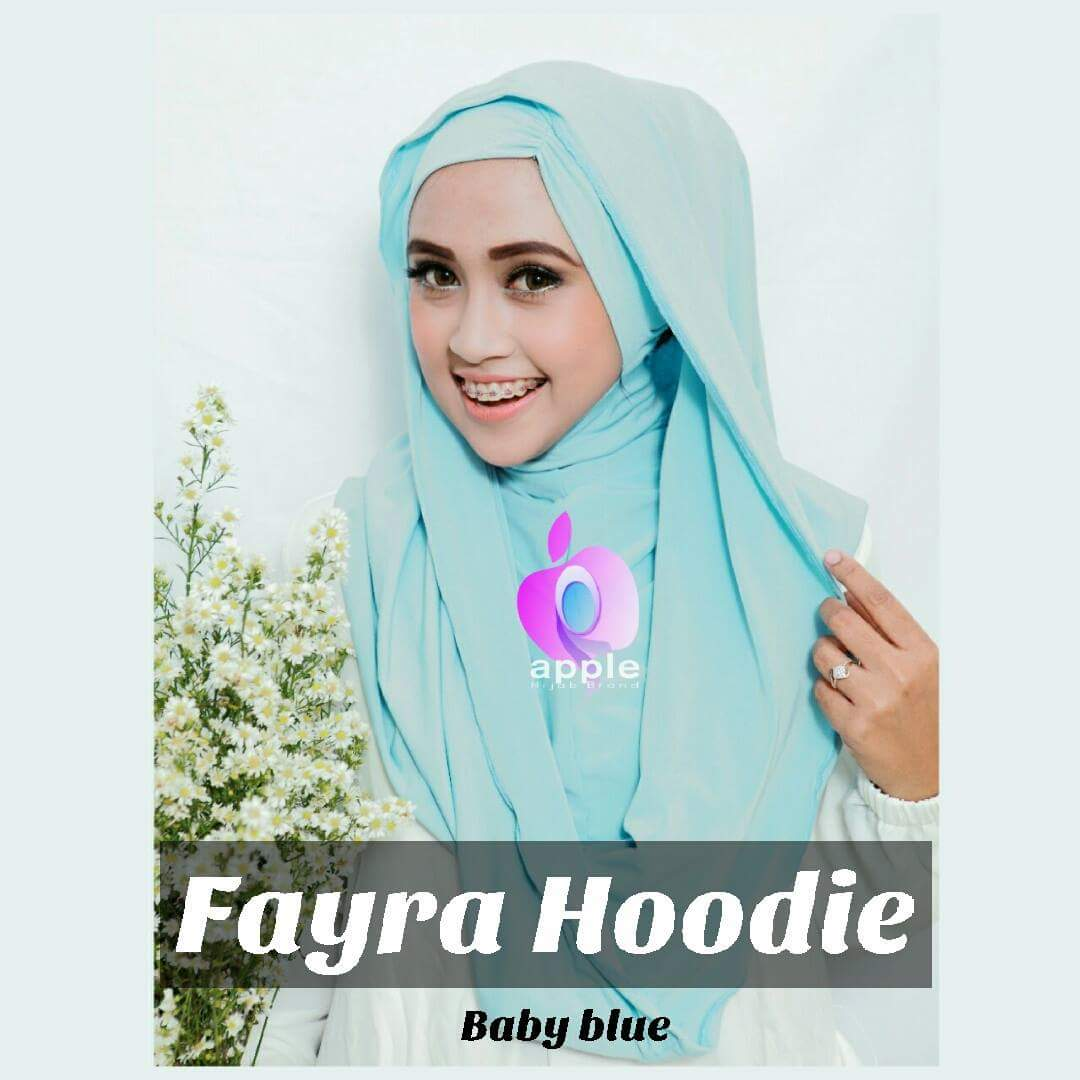 apple hijab fayra hoodiie