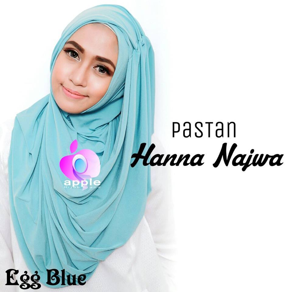apple hijab hanna najwa egg blue