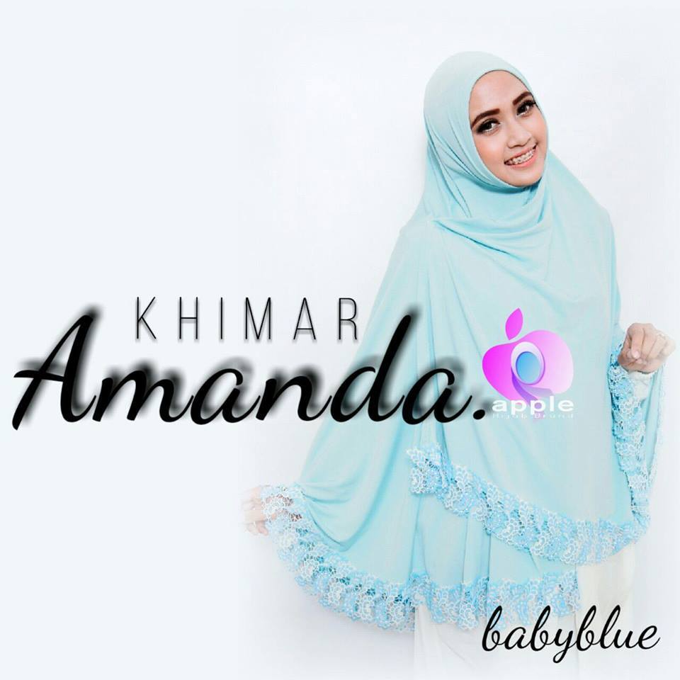 apple hijab khimar amanda baby blue