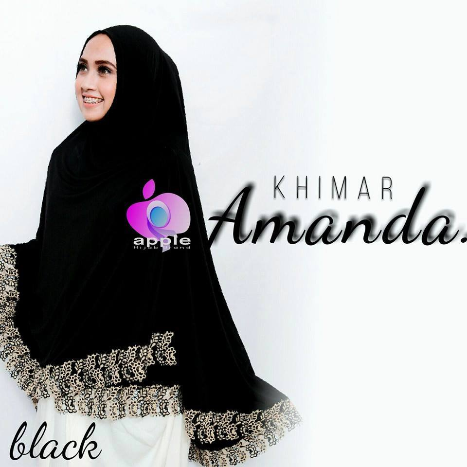 apple hijab khimar amanda black