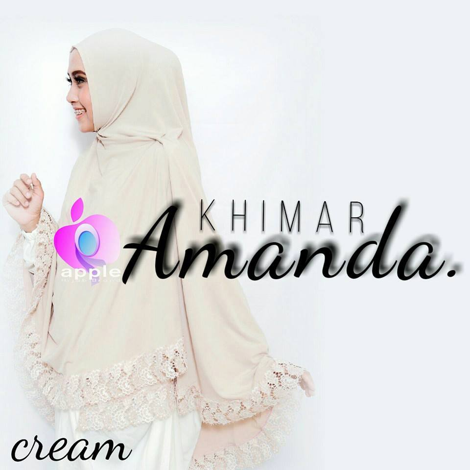 apple hijab khimar amanda cream