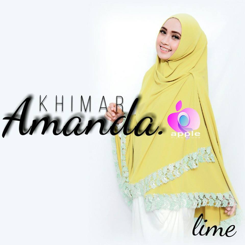 apple hijab khimar amanda lime