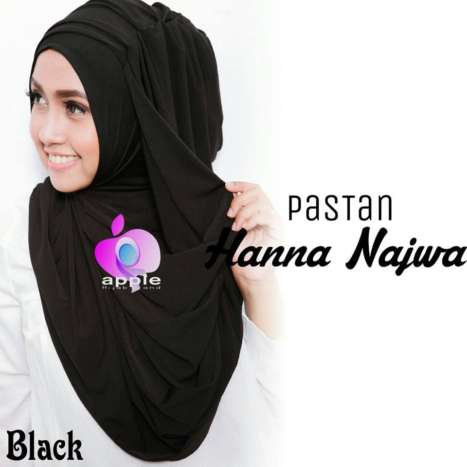 apple hijab pastan hana najwa black