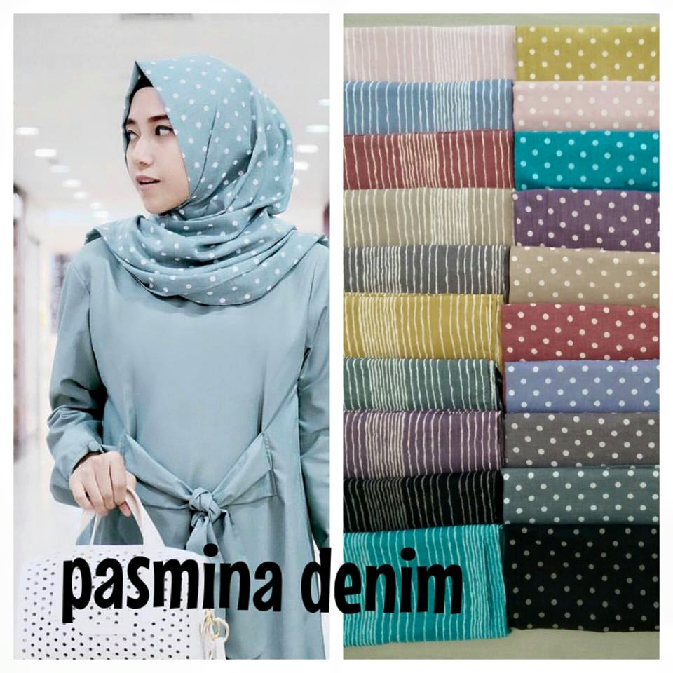 pashmina denim stripe