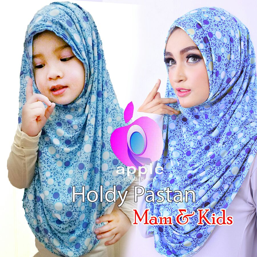 apple hijab pastan holdy blue