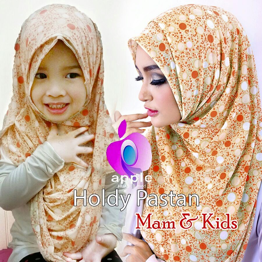 apple hijab pastan holdy orange