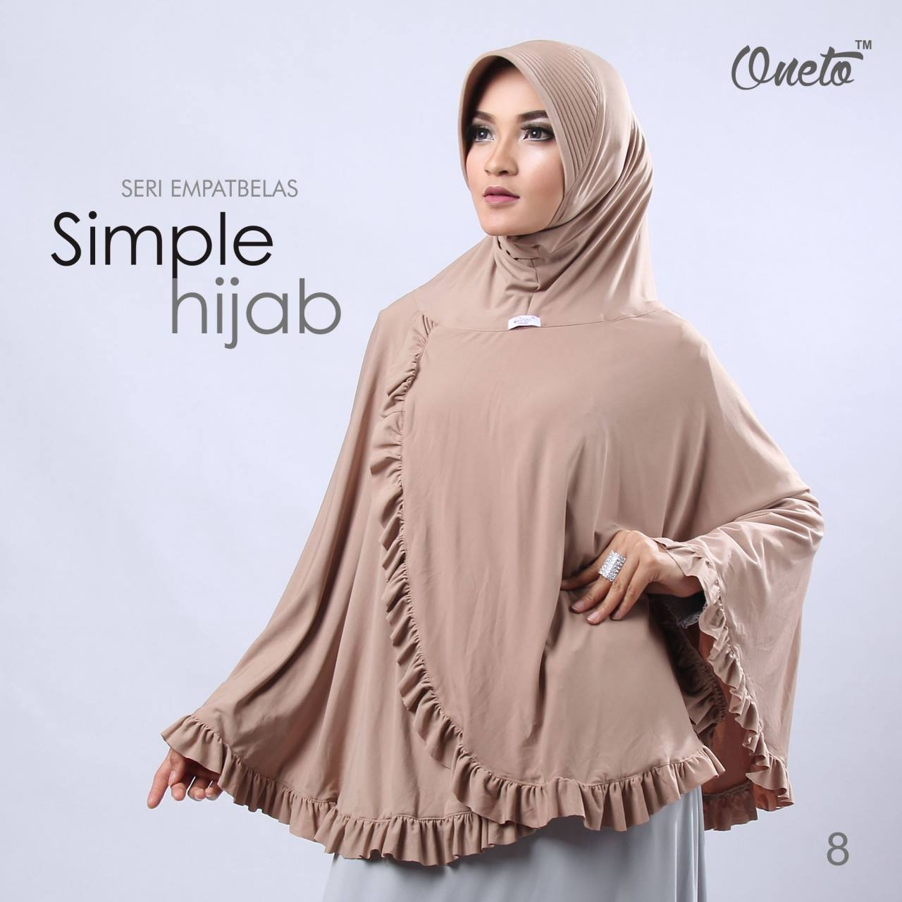 oneto jilbab simple hijab 14 krem