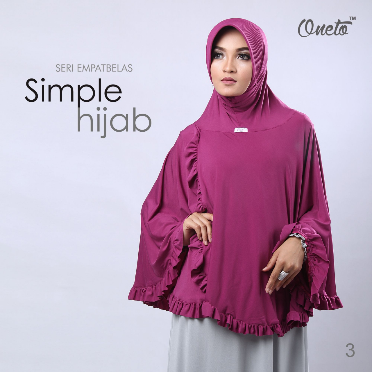 oneto jilbab simple hijab 14 magenta