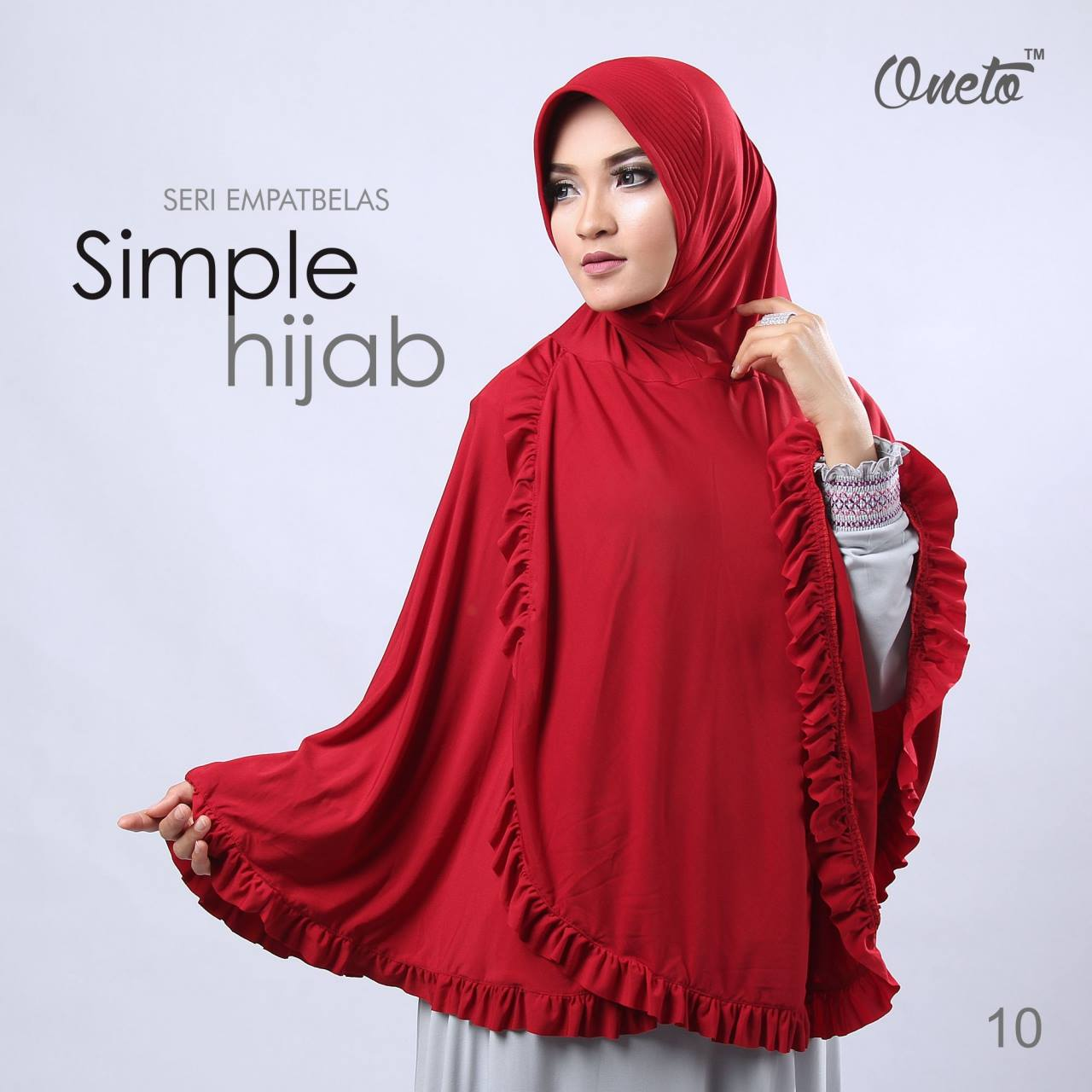 oneto jilbab simple hijab 14 merah
