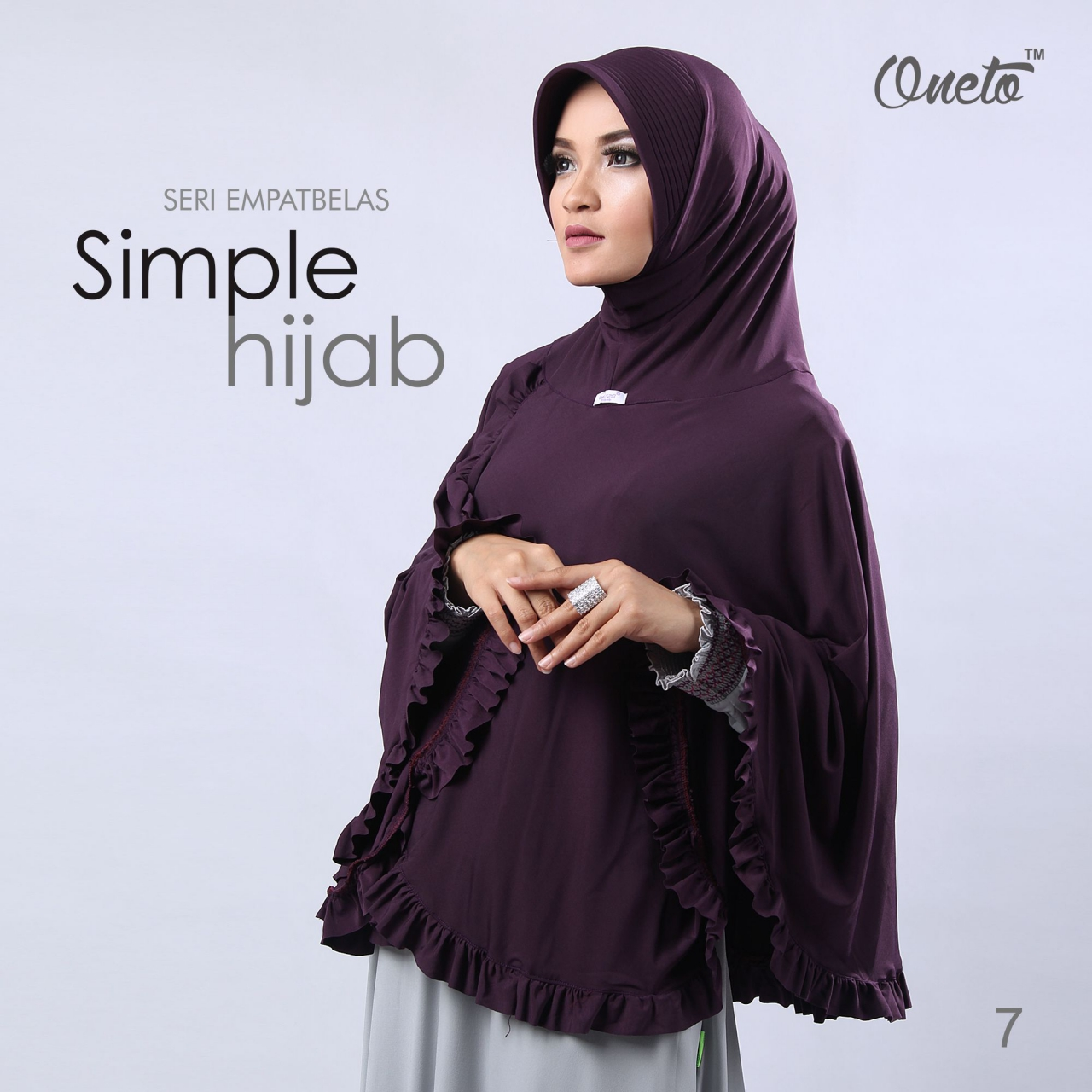 oneto jilbab simple hijab 14 ungu
