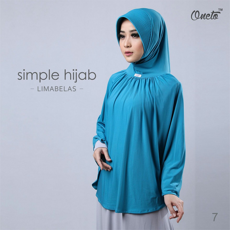 oneto simple hijab 15 biru