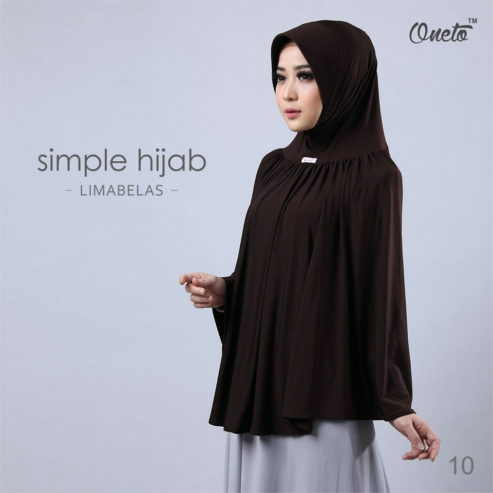 oneto simple hijab 15 coklat