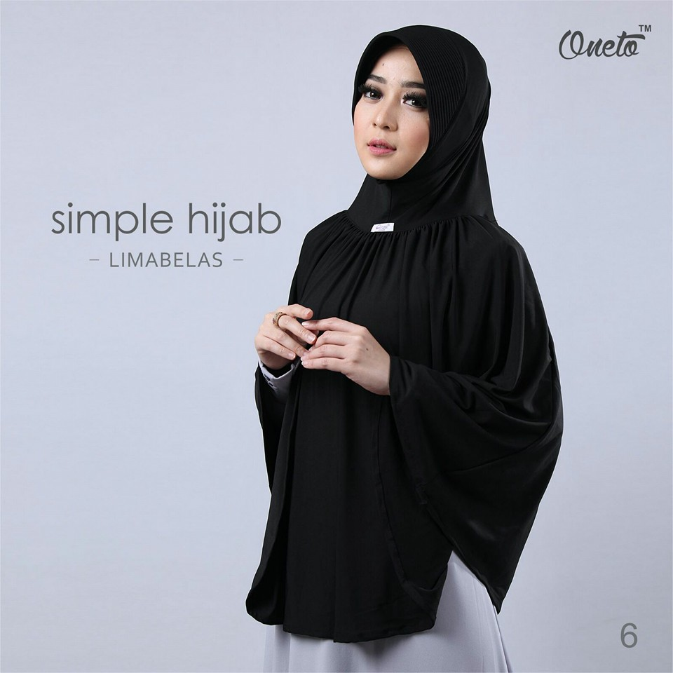 oneto simple hijab 15 hitam