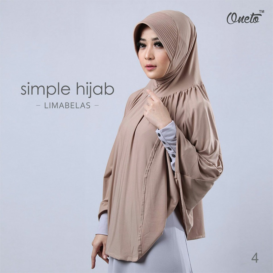 oneto simple hijab 15 krem