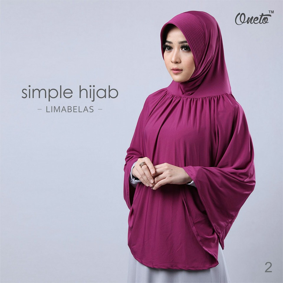 oneto simple hijab 15 magenta