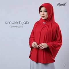 oneto simple hijab 15 merah