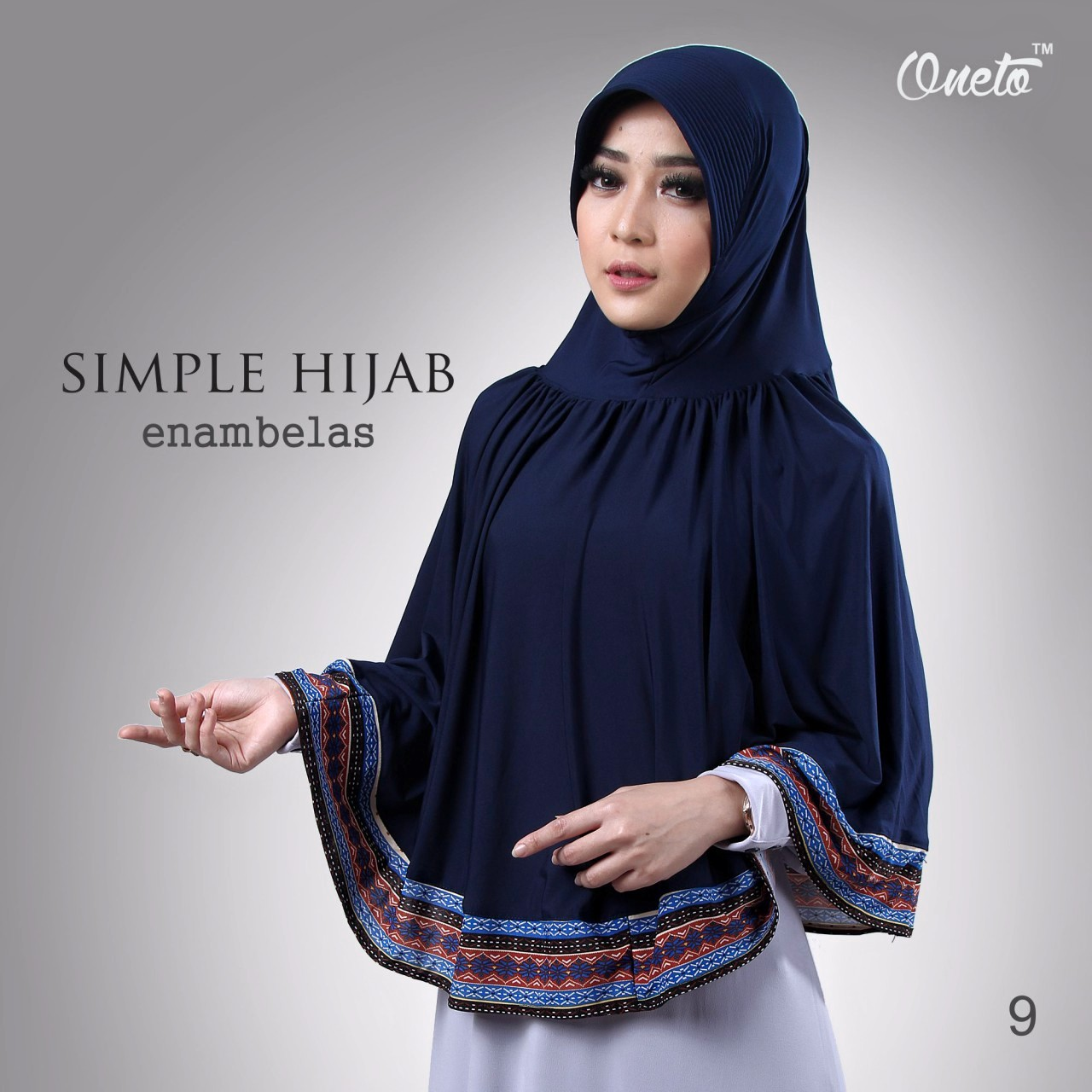oneto simple hijab 16 biru