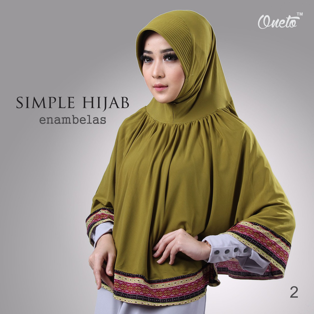 oneto simple hijab 16 hijau