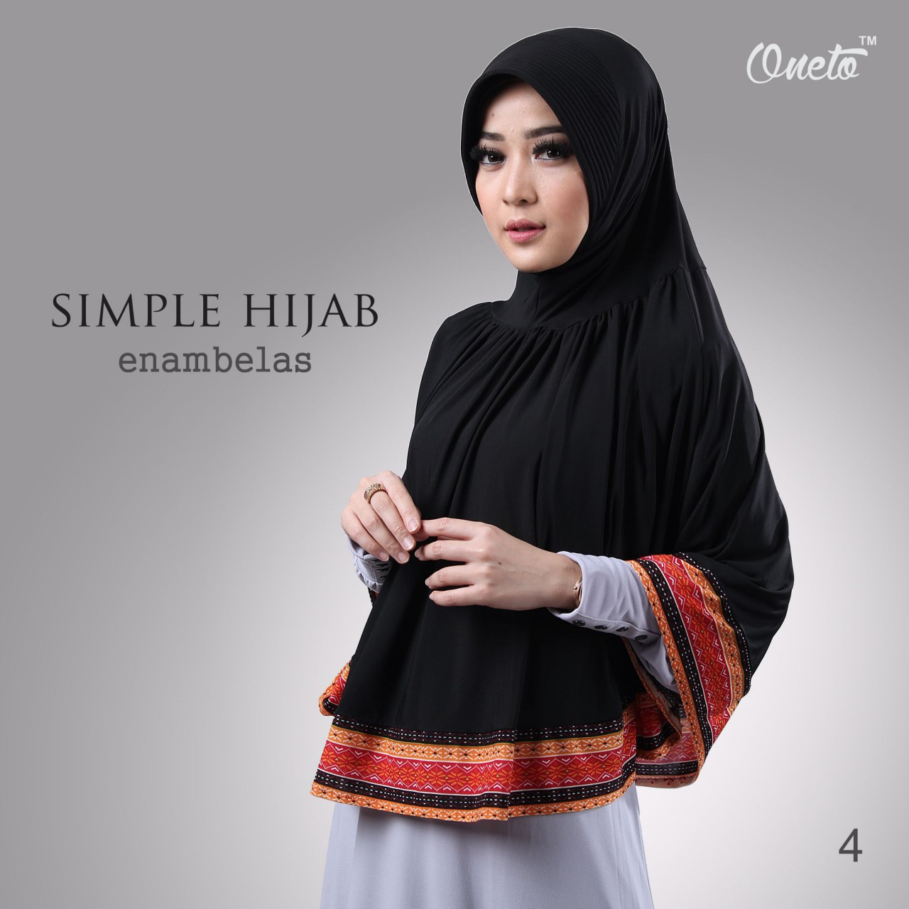oneto simple hijab 16 hitam
