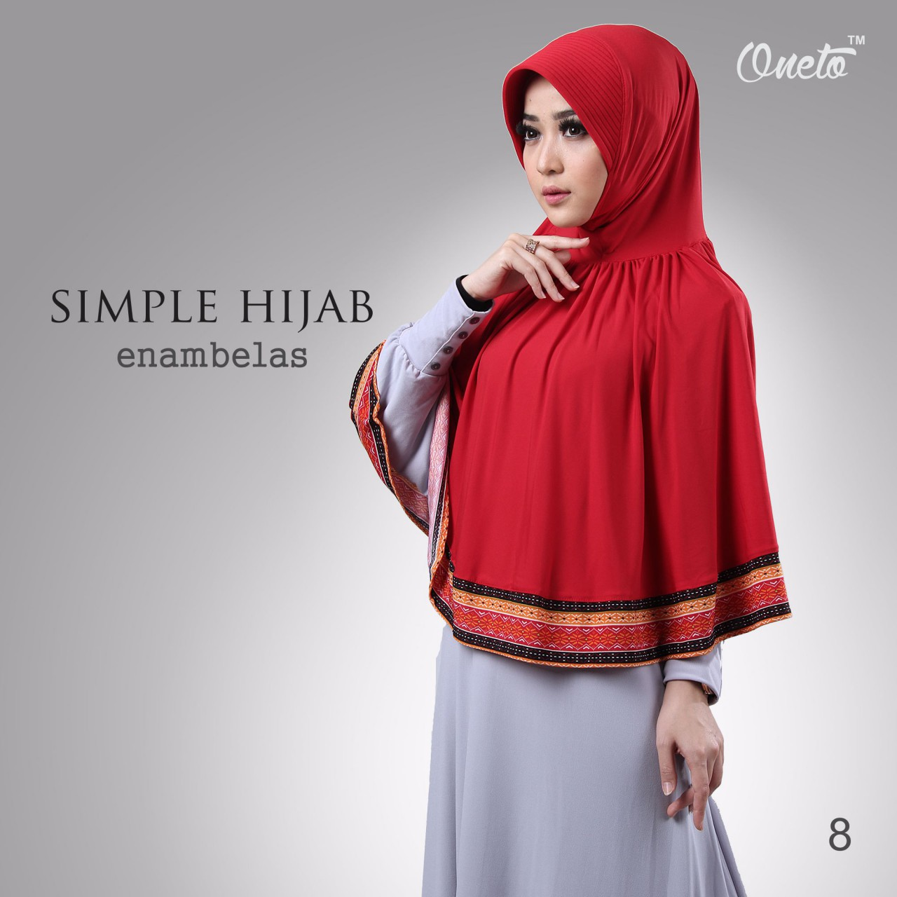 oneto simple hijab 16 merah.