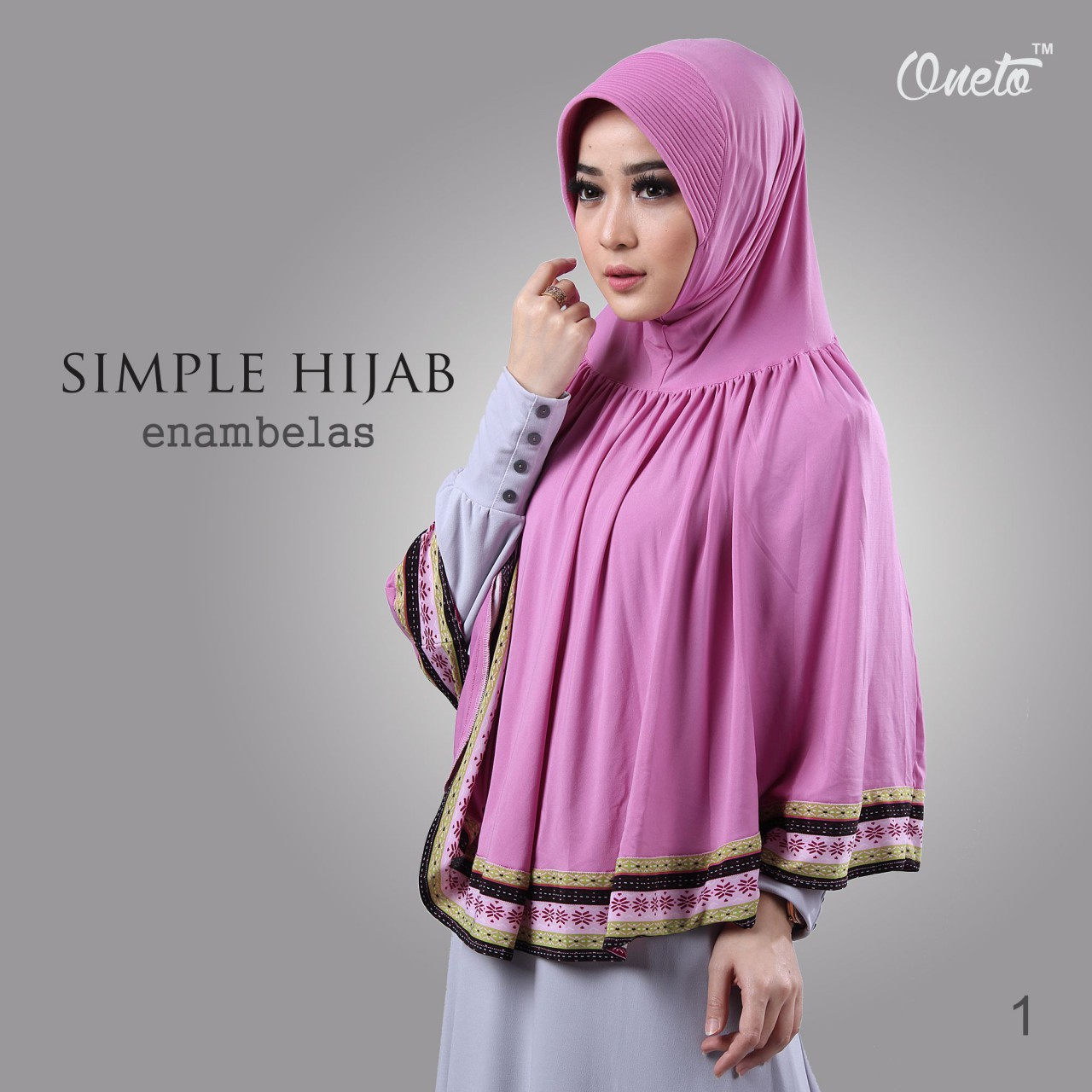 oneto simple hijab 16 pink