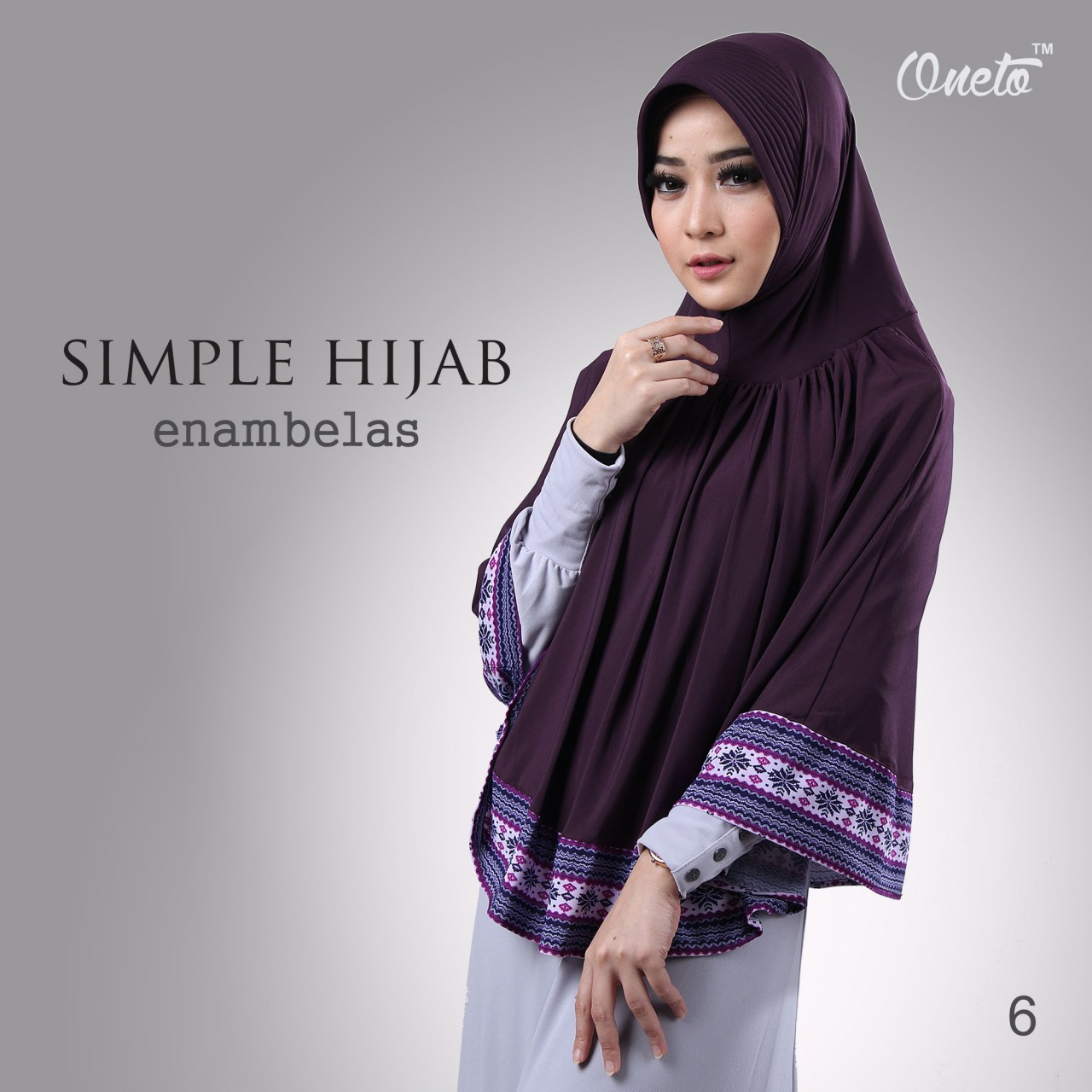 oneto simple hijab 16 ungu