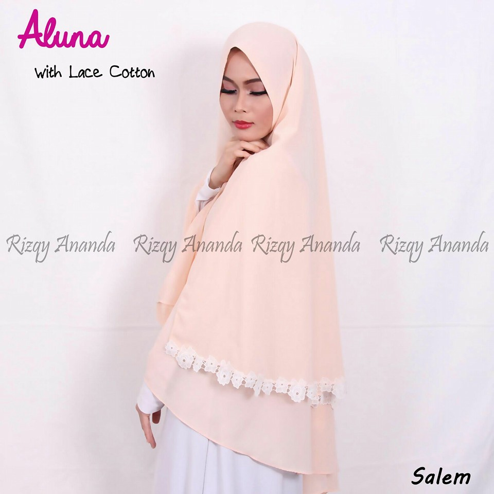 rizqy ananda aluna lace cotton salem