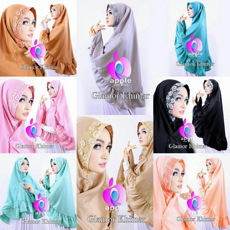 apple hijab glamor khimar