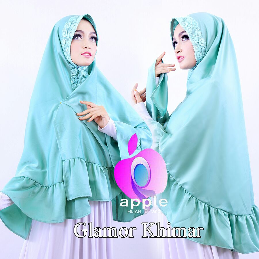 apple hijab glamor khimar mint