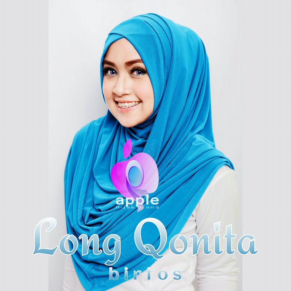apple hijab long qonita birtos