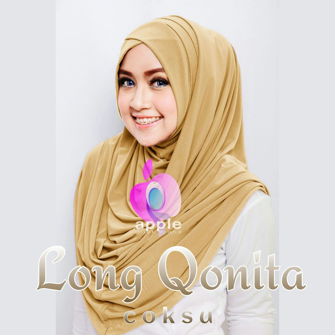 apple hijab long qonita coksu
