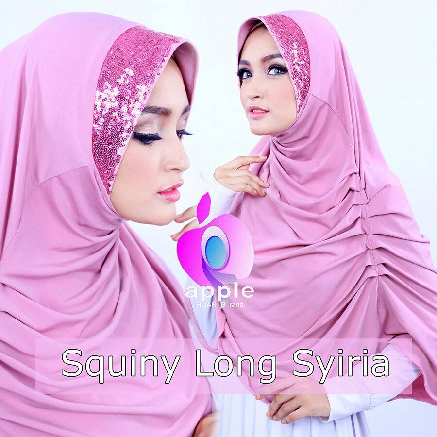 apple hijab squiny long siria dusty