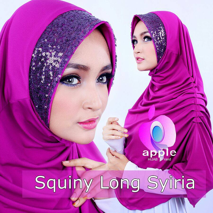 apple hijab squiny long siria ungu