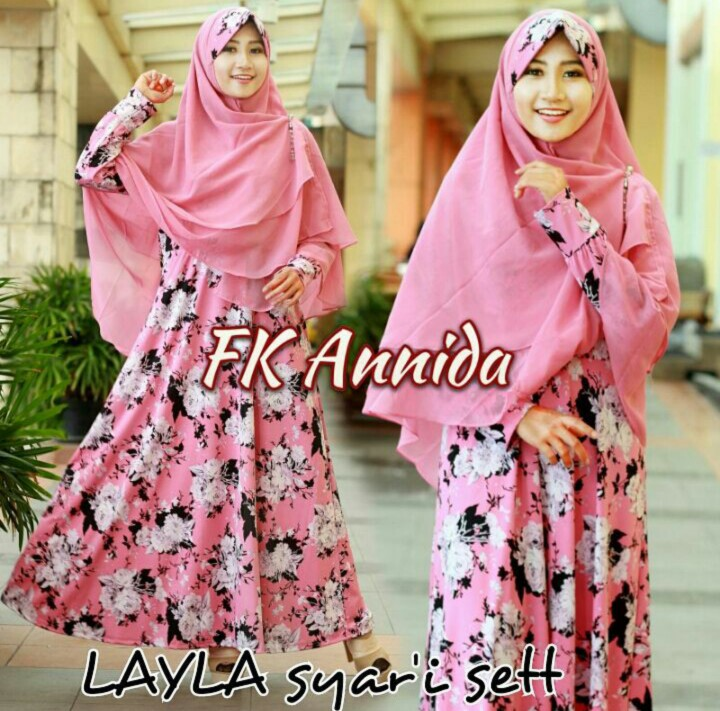 fk-annida layla gamis pink