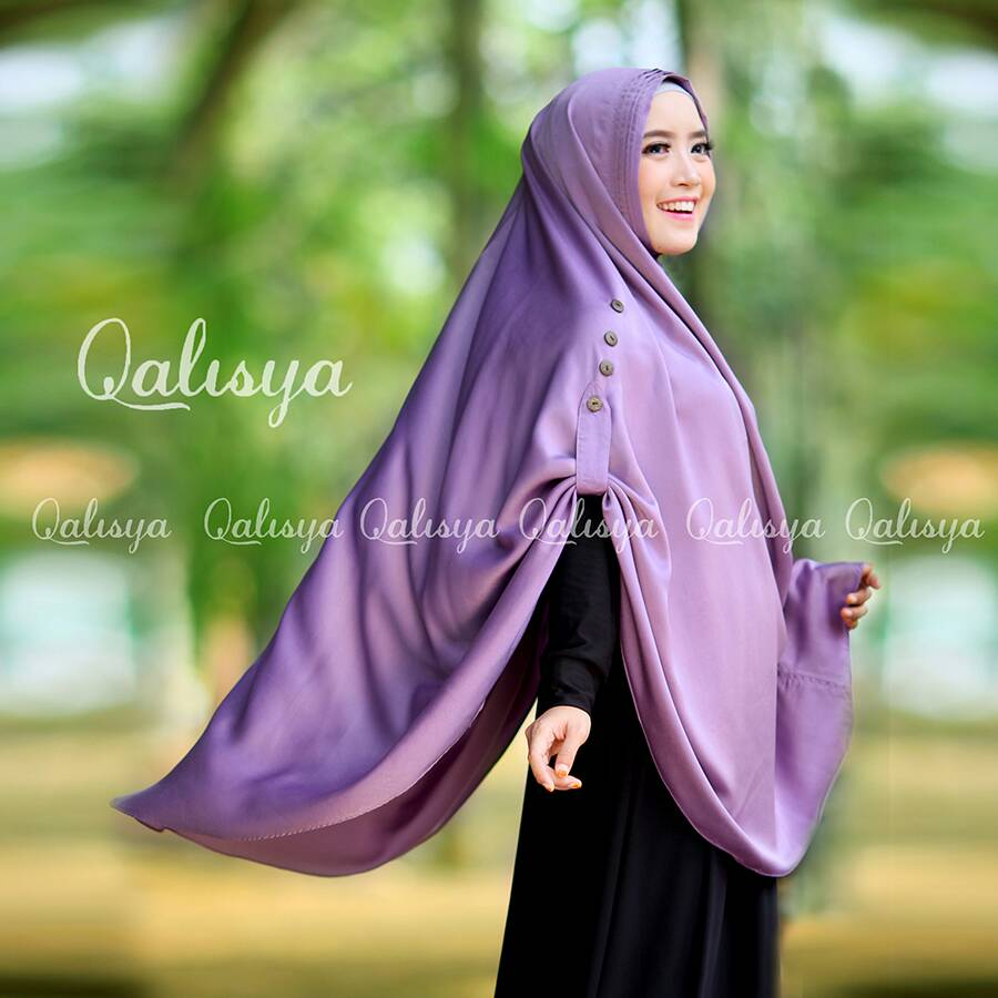 qalisya jilbab ziya dusty purple