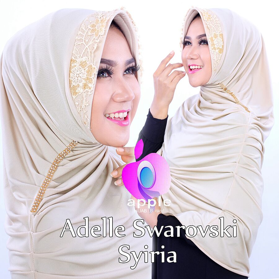 Adelle Swarovski Syiria by Apple Hijab krem