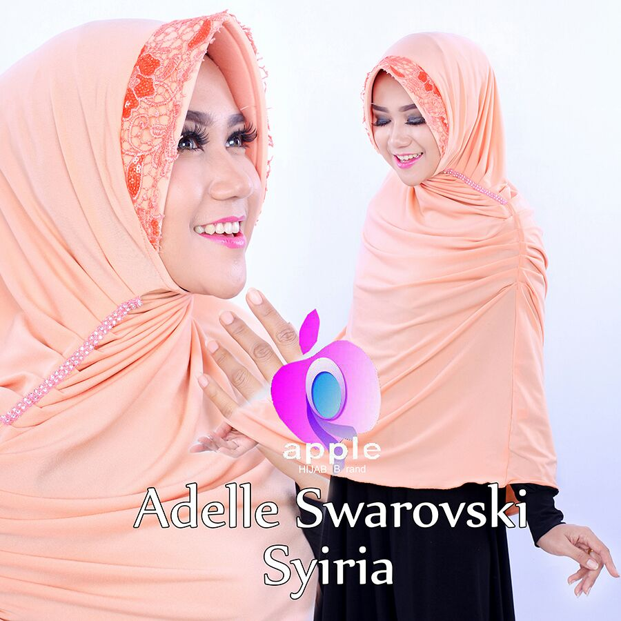 Adelle Swarovski Syiria by Apple Hijab peach