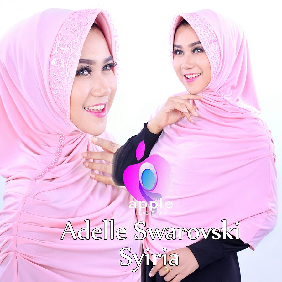 Adelle Swarovski Syiria by Apple Hijab pink