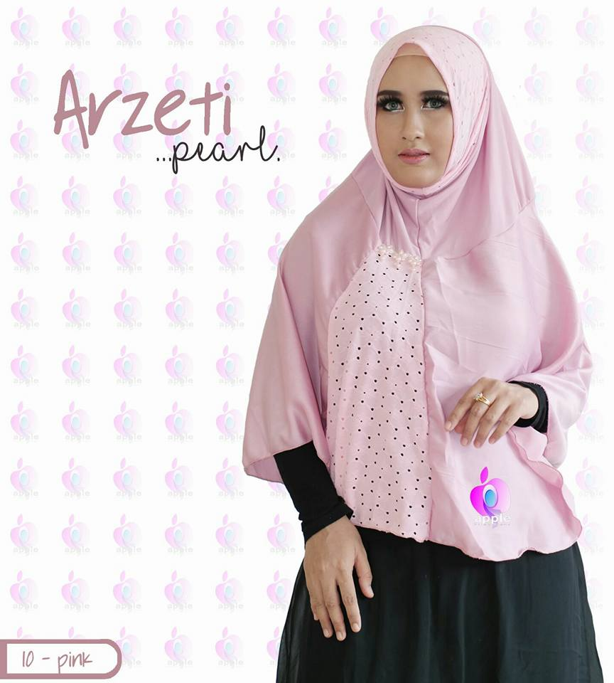 Arzeti Pearl Premium by Apple Hijab baby pink
