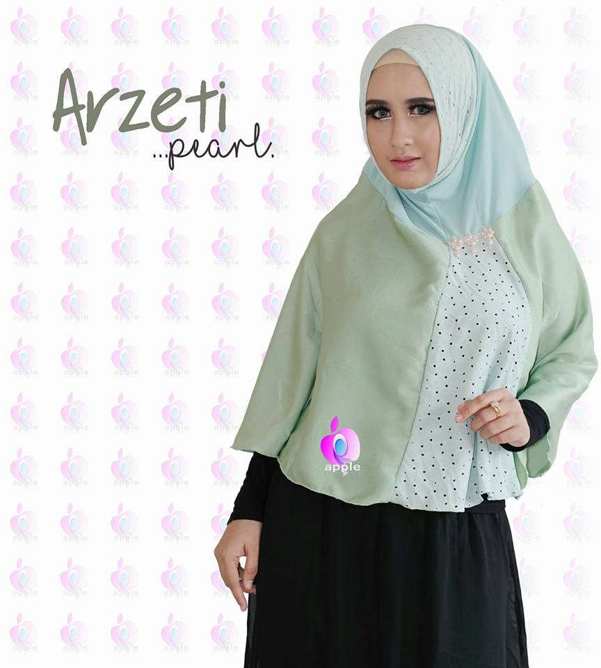 Arzeti Pearl Premium by Apple Hijab hijau