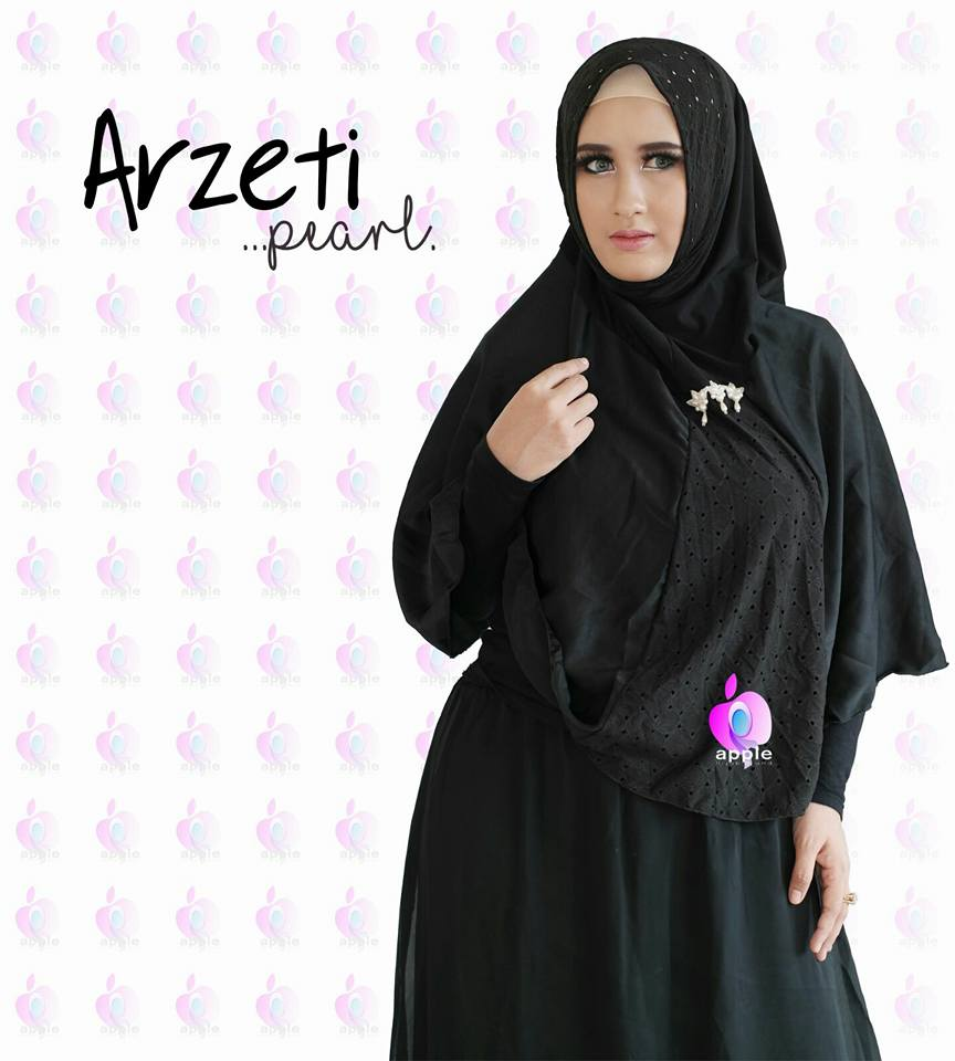 Arzeti Pearl Premium by Apple Hijab hitam