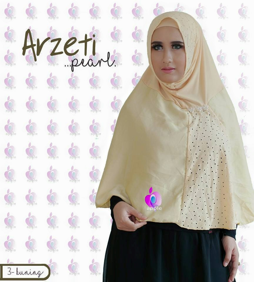Arzeti Pearl Premium by Apple Hijab krem