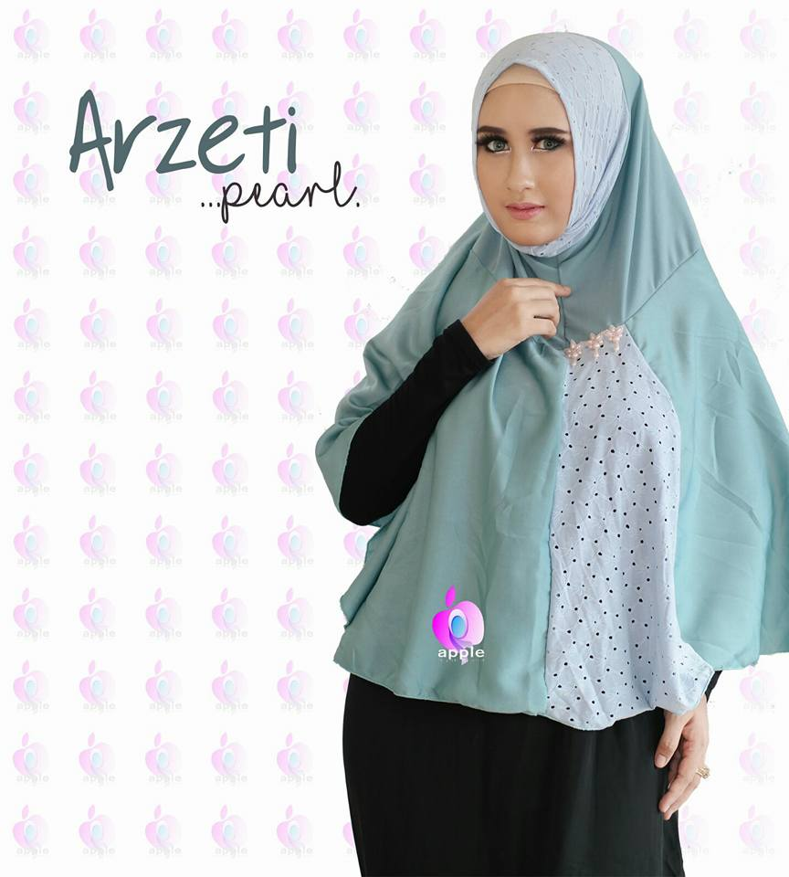 Arzeti Pearl Premium by Apple Hijab mint