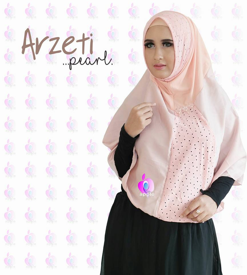 Arzeti Pearl Premium by Apple Hijab peach