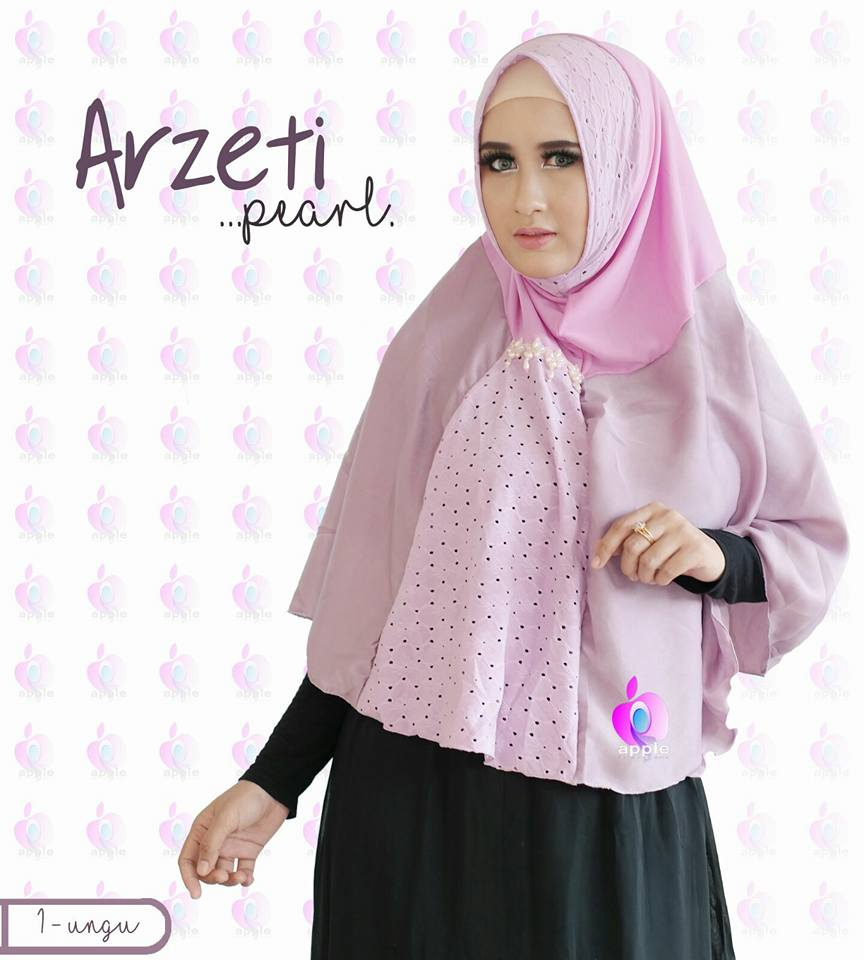 Arzeti Pearl Premium by Apple Hijab pink