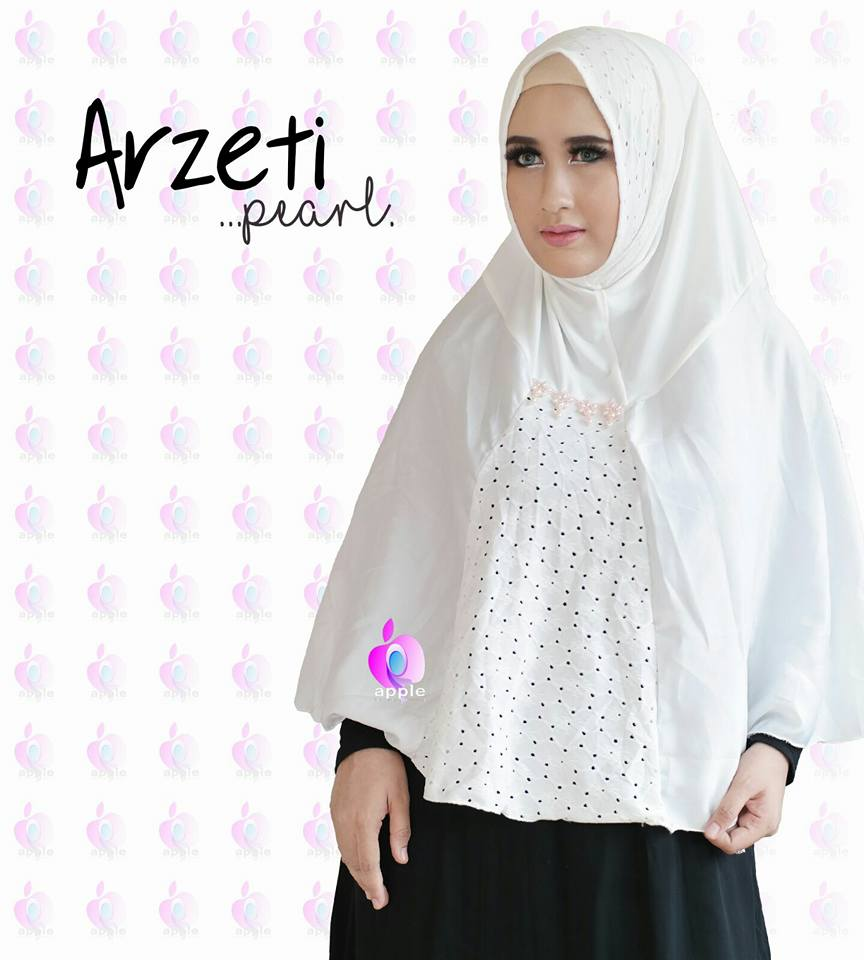 Arzeti Pearl Premium by Apple Hijab putih