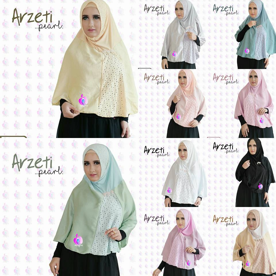 Arzeti Pearl Premium by Apple Hijab seri warna