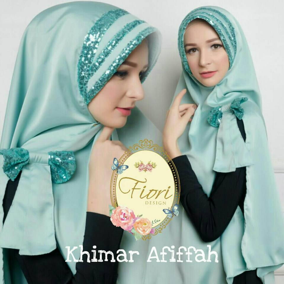 Khimar Afifah by Fiori Design mint