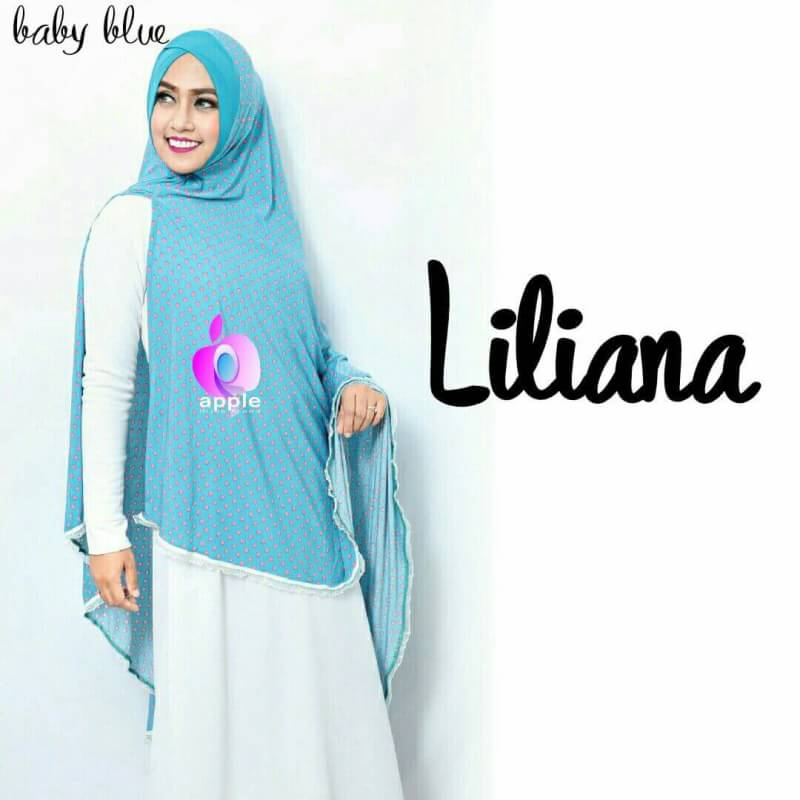 Liliana Khimar Syar'i by Apple Hijab baby blue